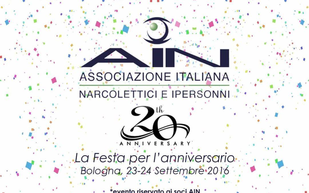 Raccolta adesioni festa XX anniversario AIN
