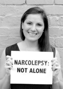 Julie Flygare e la campagna di sensibilizzazione Narcolepsy: NOT ALONE